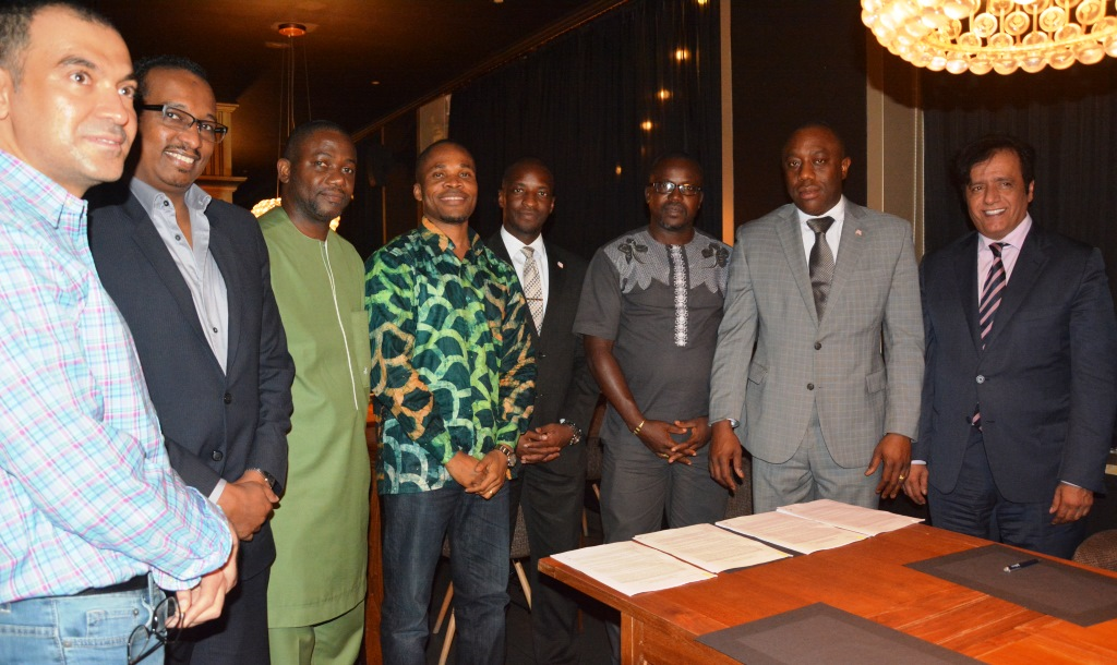 GoL, Joint Arab Mission Sign Aide Memoire for Gbarnga - Konia Road project