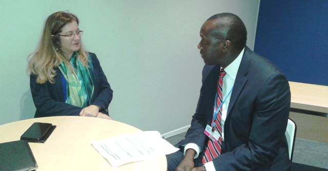 Min.Konneh and Director Cheikhrouhou of Green Climate Fund