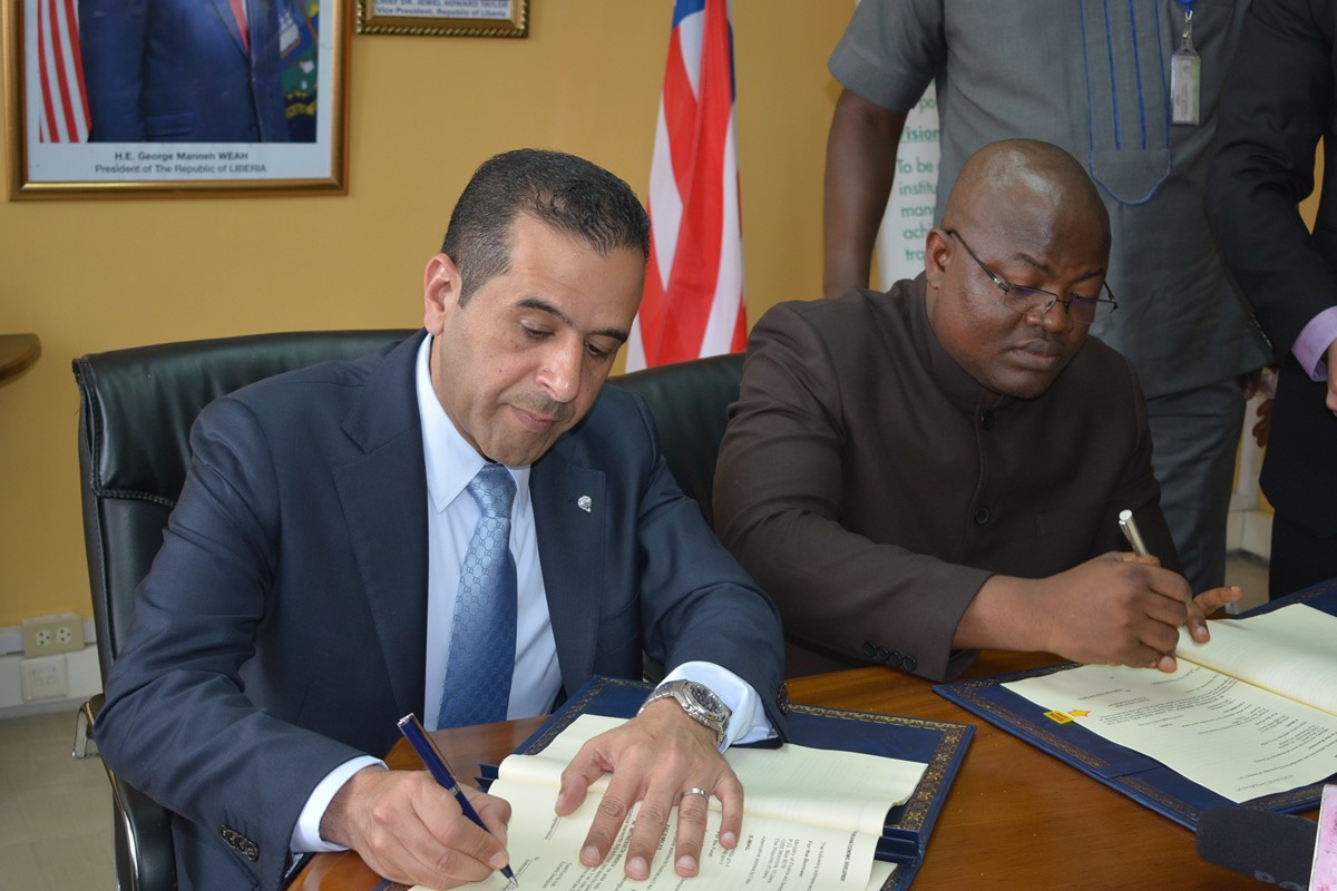 Kuwaiti-Fund-for-ARAB-Economic-Development-and-the-Government-of-Liberia-Signing-a-Loan-Agreement-