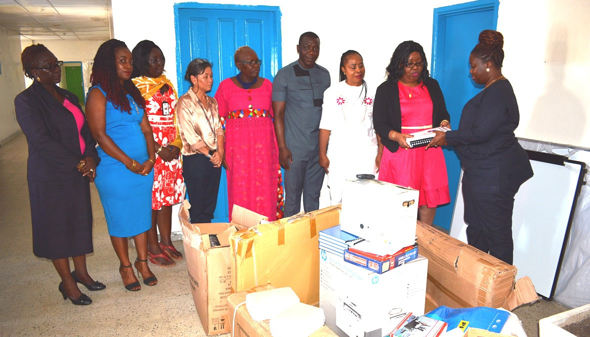 Budget-Minister-receives-logistic-for--GRPB-Unit-at-MFDP-from-UN-Women-through-Gender--Children-Protection-Minister-Tarr